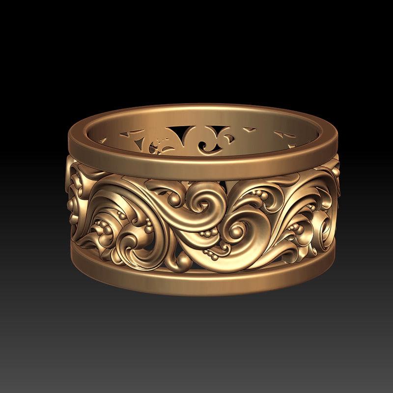 ornament ring 2 m 3d model