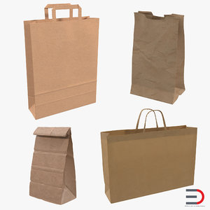 3d model paper bags 2