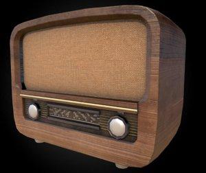 old vintage radio 3d fbx