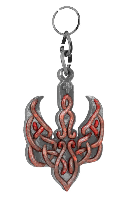 3d model of keychain modeled