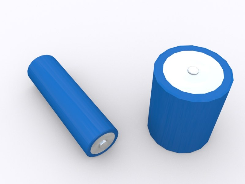 blue battery 3d max