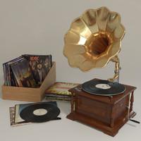 gramophone record vinyl 3d model