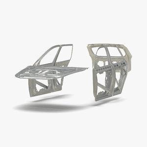 3d model suv doors hood trunk