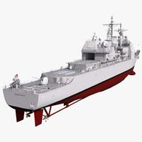 ticonderoga class cruiser monterey 3d c4d