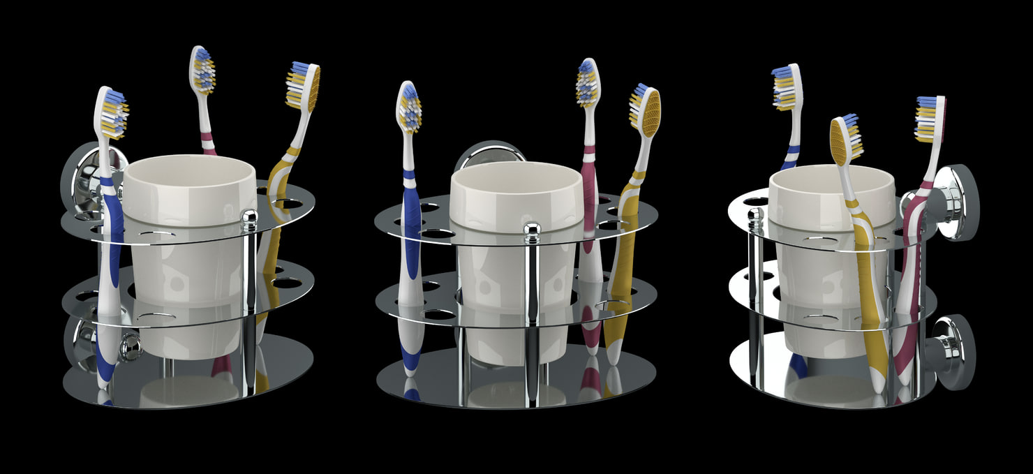 3d 3 toothbrush holder model