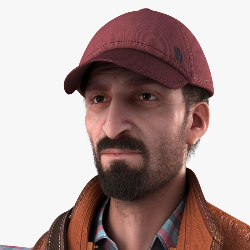 3ds realistic male real