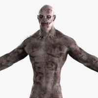zombie m 3d model