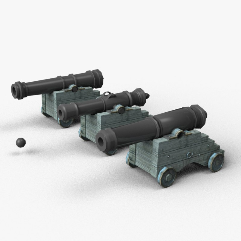 3d naval cannons
