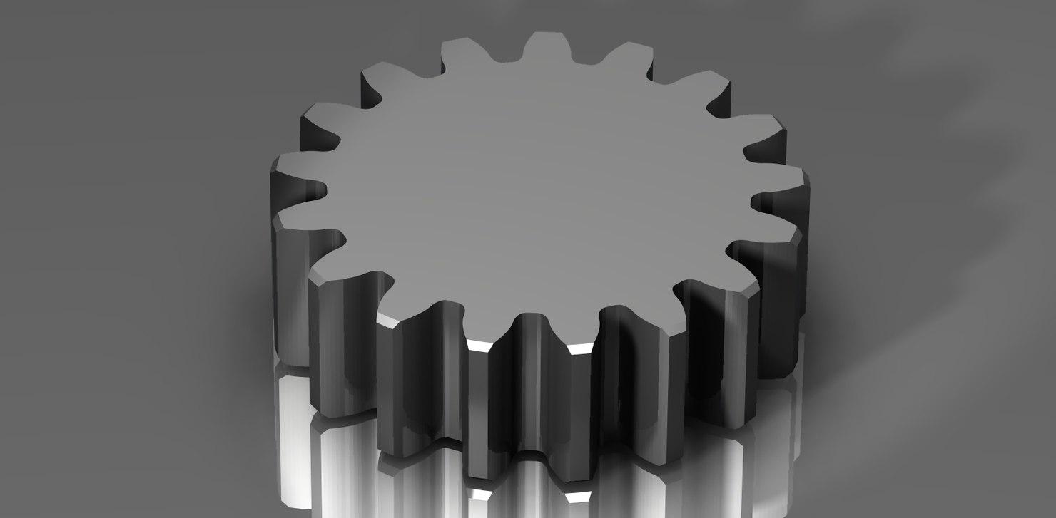 spur gear 48 48p 3d dxf