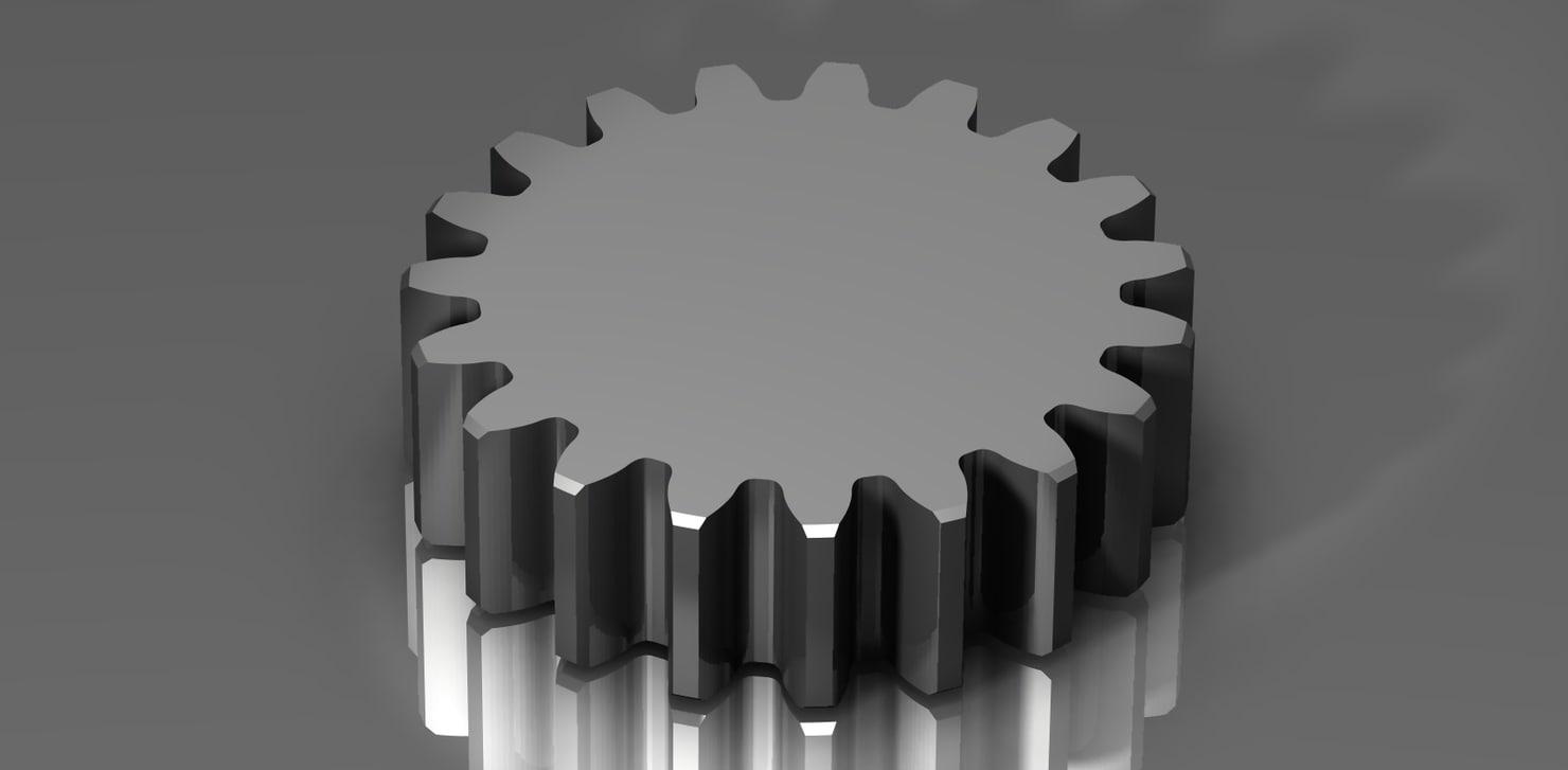 3ds spur gear 48 48p