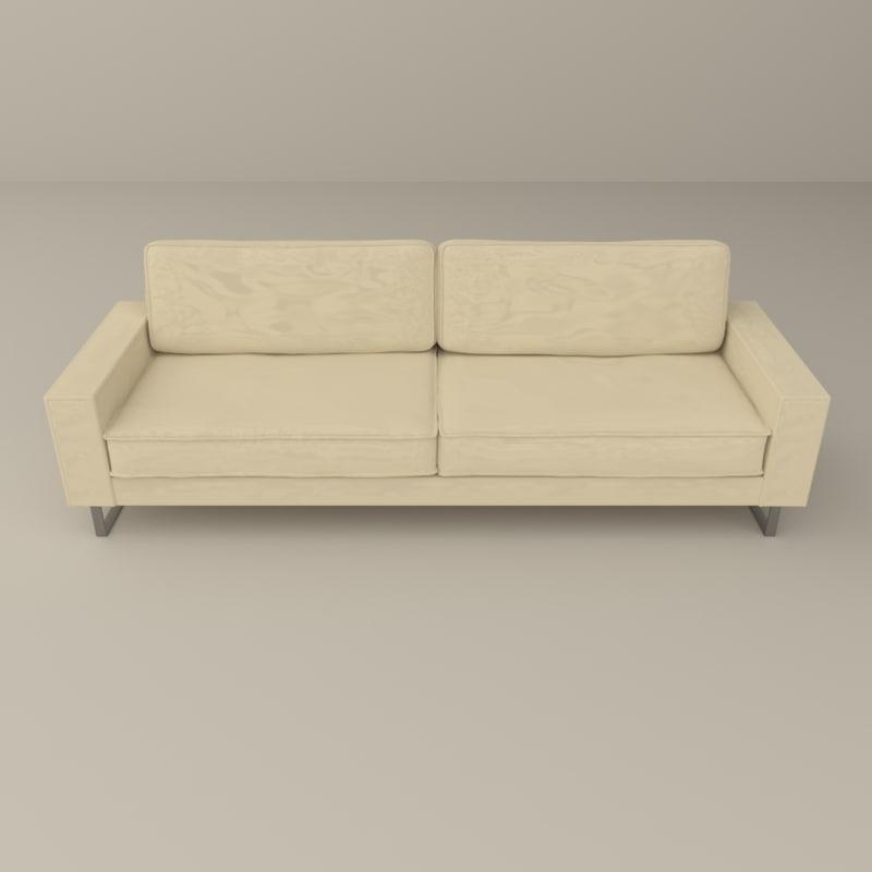 modern couch 3d blend