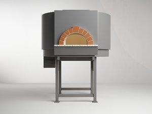 3d model pizza oven lp 100