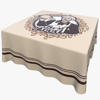 tablecloth table square 3d model