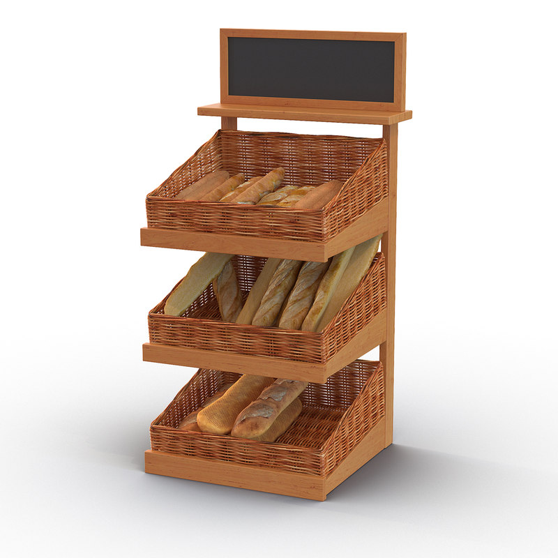 3d model of bakery display 4
