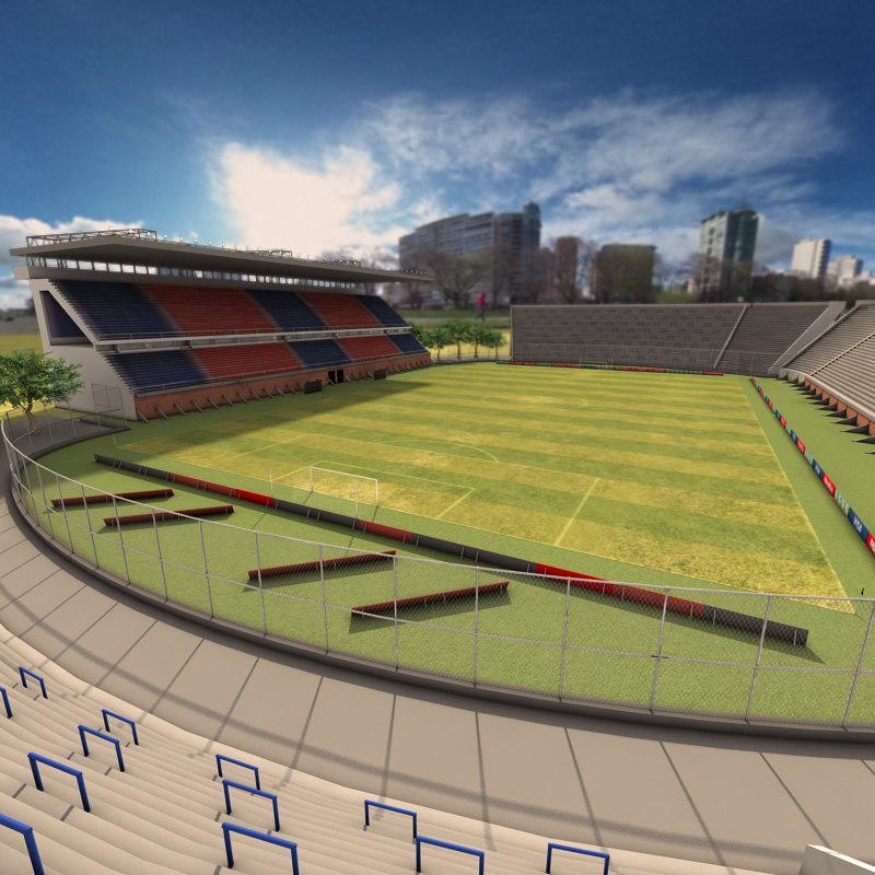 3d model of pedro bidegain stadium