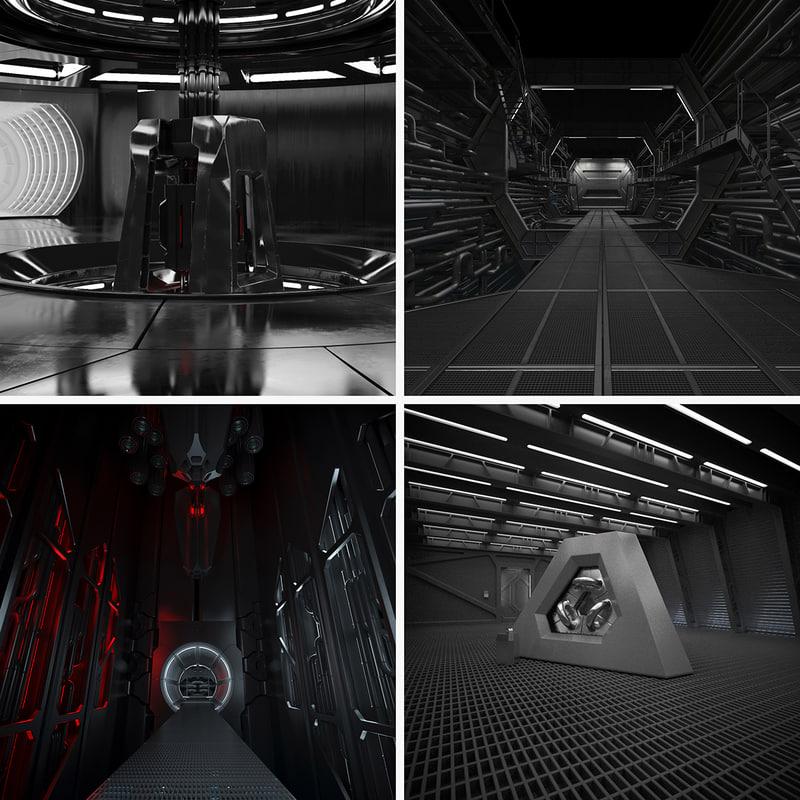 3d model interiors set