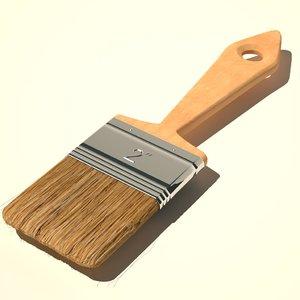 3d model paint brush 2