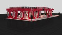 fair exhibition stand 3d model