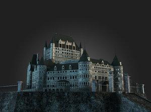 mansion haunted castle 3d model