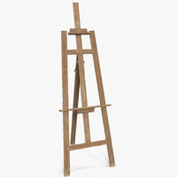3d model easel stand