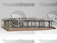 cafe restaurant building 3d max