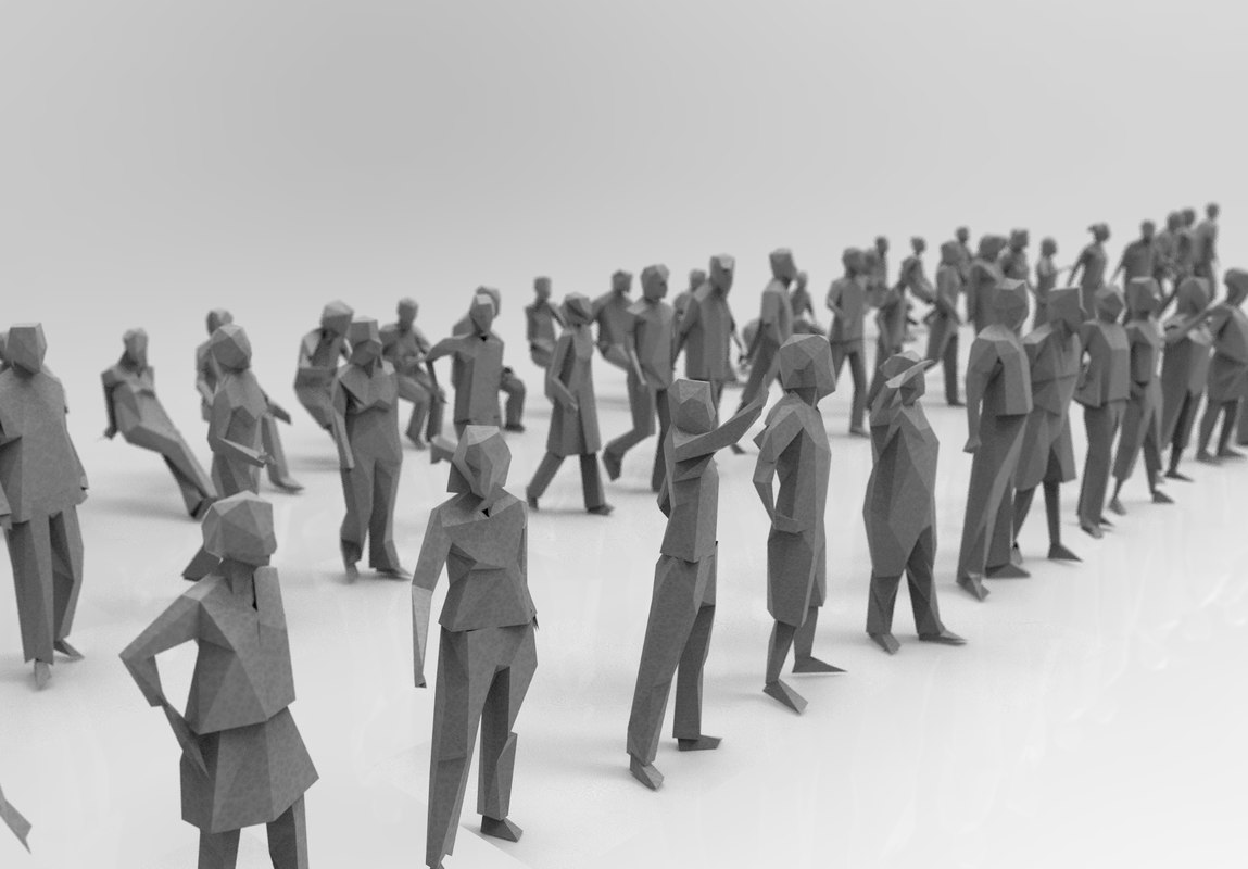 3d model people silhouettes 115