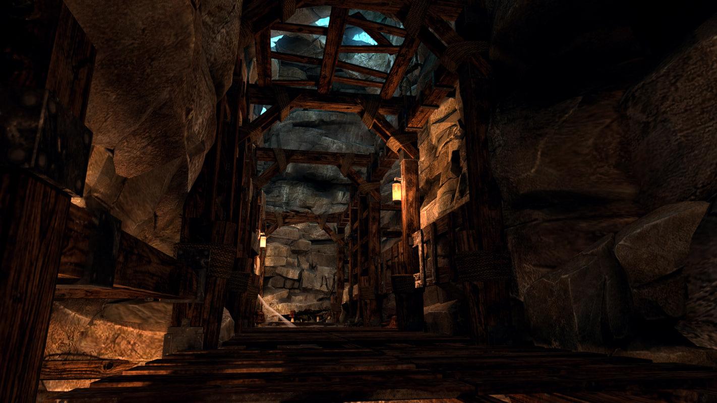 3d 3ds mineshaft medieval shaft