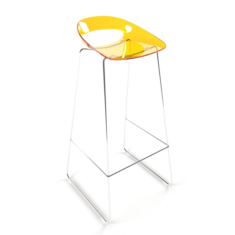 3d stool vienna chair model