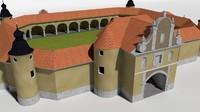 church scene engraving 3d model