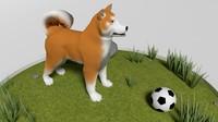 akitainu dog engraving 3ds