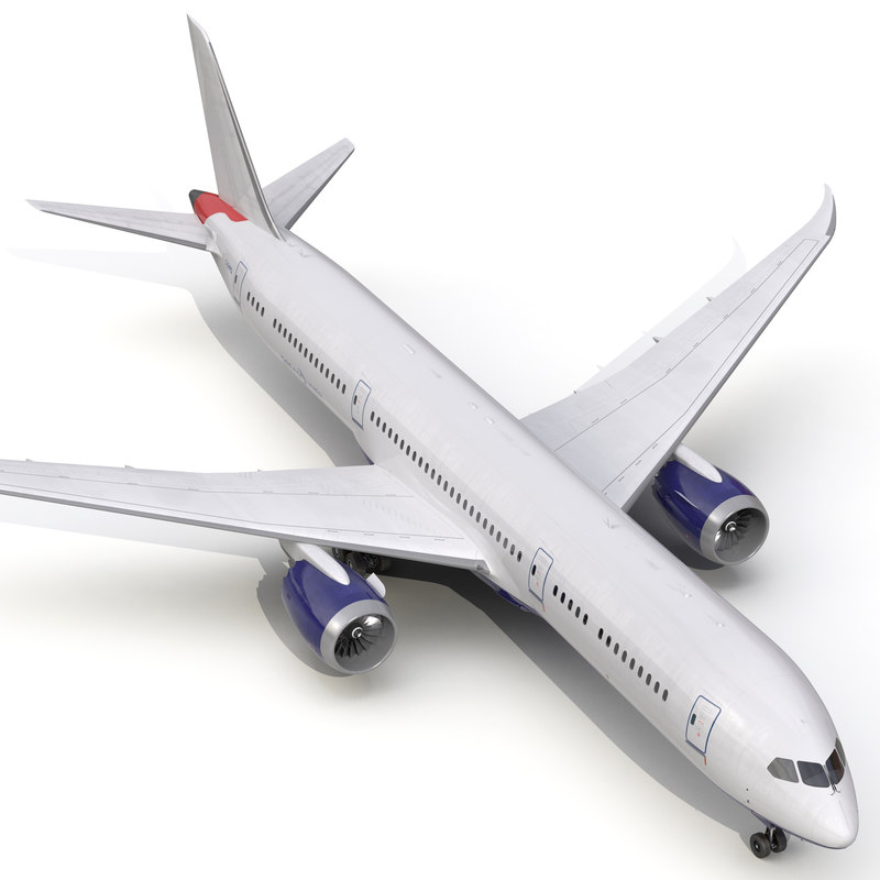 boeing 787 dreamliner generic 3d model