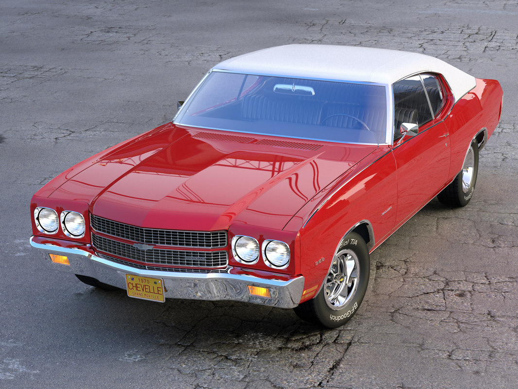 chevelle chevy 1970 3d model
