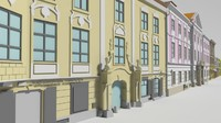 baroque street engraving 3d 3ds