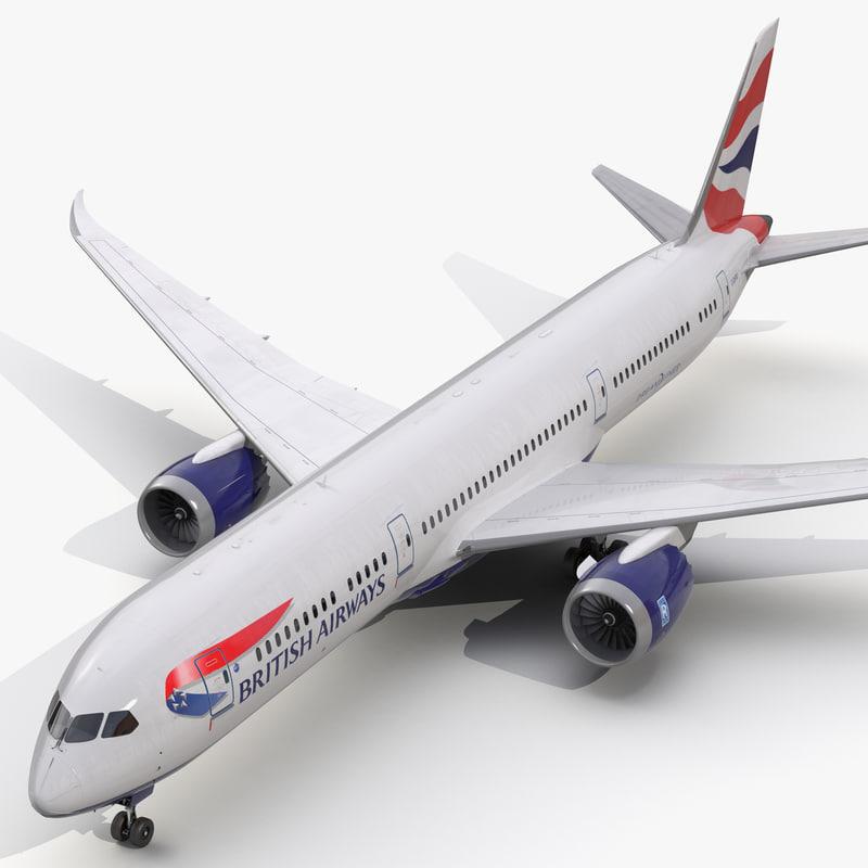 boeing 787 9 dreamliner 3d model