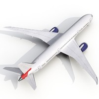 boeing 787-9 generic rigged 3d model