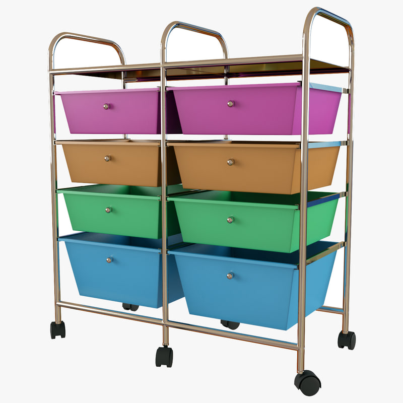 max drawer multicolor cart