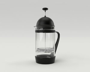 3d model french coffee maker 1