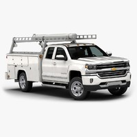 2016 chevrolet silverado commercial 3d model