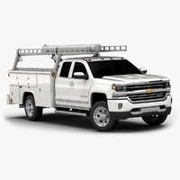 3d 2016 chevrolet silverado commercial model