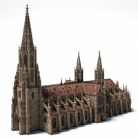 3d model medieval gothic church