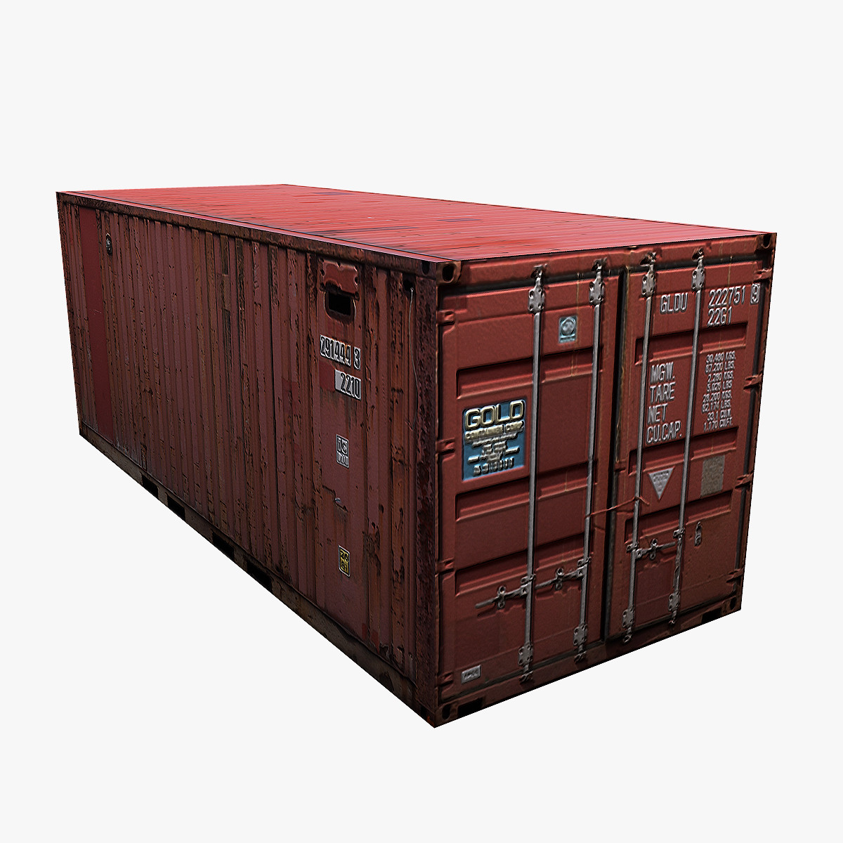 3d model shipping container 20ft