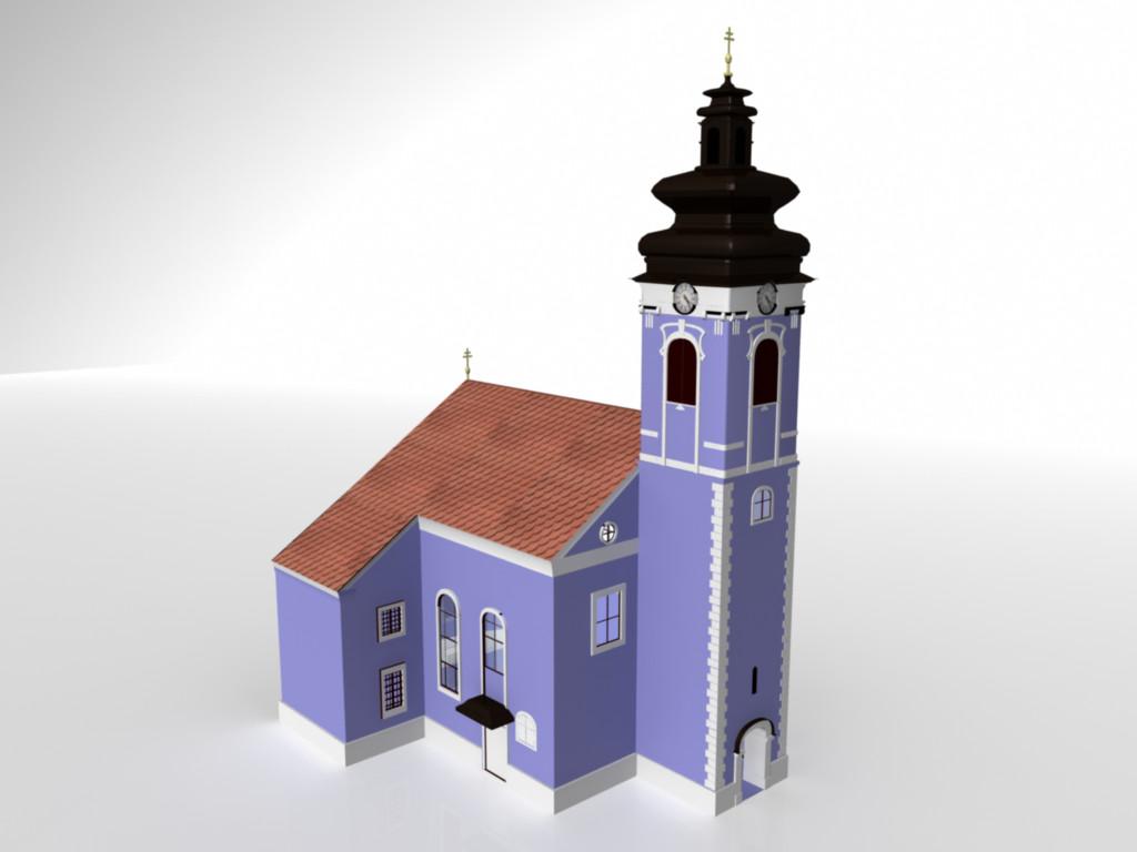 3d saint jacobs church engraving