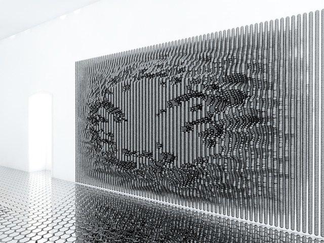 wall panel futuristic 3d model
