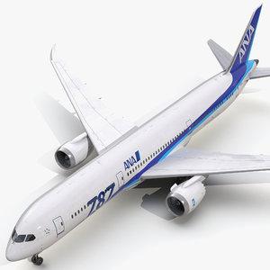 boeing 787-9 dreamliner nippon 3d 3ds