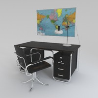 desk chair bauhaus 3d model