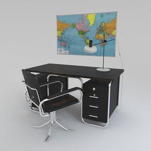 desk chair bauhaus 3d model