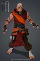 3d stylized muscled guy model