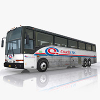 real-time coach usa bus 3d max