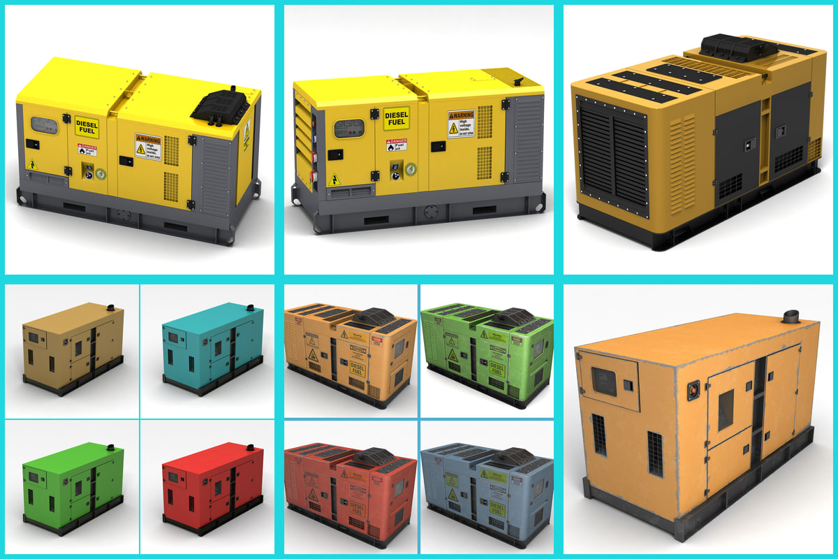 3d model power generator
