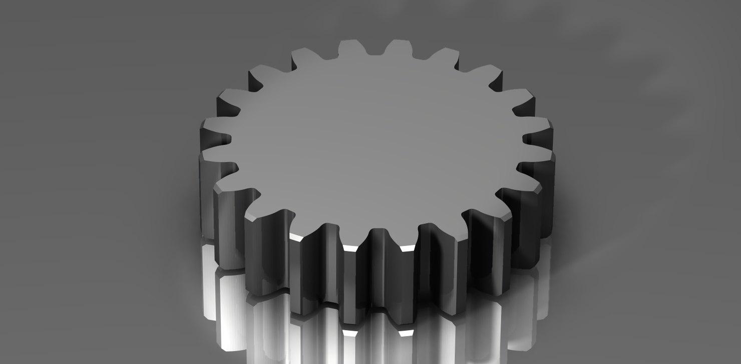 3d model functional spur gear 48